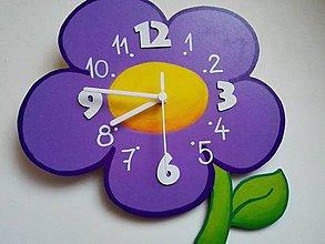 Hodiny - detské nástenné hodiny kvet - 9268545_