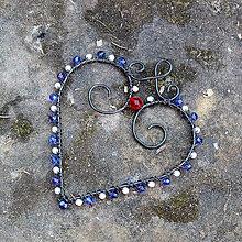 Dekorácie - Srdíčko modré - 9264567_
