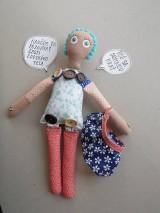 Hračky - Gombíková bábika Anna - 9264409_