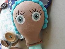 Hračky - Gombíková bábika Anna - 9264428_