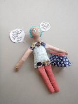 Hračky - Gombíková bábika Anna - 9264433_
