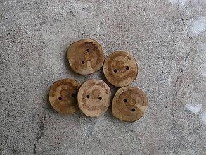 Galantéria - gombíky z konára jablone - 9266065_