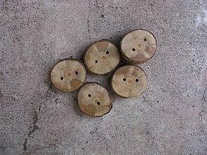 Galantéria - gombíky z konára hrušky - 9266186_
