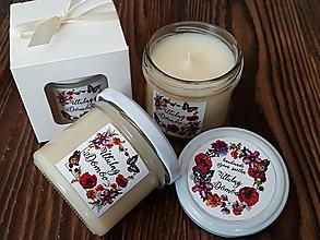 Svietidlá a sviečky - Sviečka zo 100% sójového vosku v skle - Útulný Domov - Darčeková krabička - 9266549_