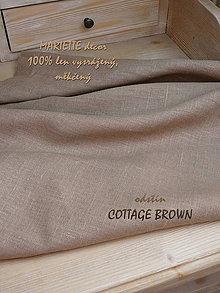 Textil - 100% len metráž, 240g/m2...odstín COTTAGE BROWN - 9263380_