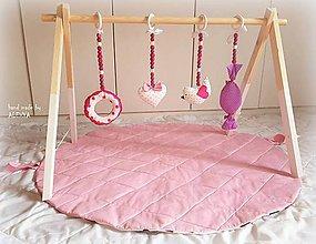 Hračky - drevená hrazdička pre bábätko - 9268692_