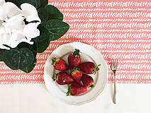- bavlnený stredový obrus 150 x 40 cm, ružová liana - 9264201_