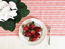 Úžitkový textil - bavlnený stredový obrus 150 x 40 cm, ružová liana - 9264201_