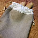 Úžitkový textil - Ľanové vrecko na pečivo a potraviny - 9267747_