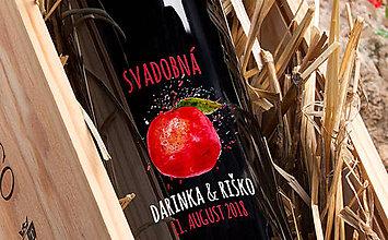 Darčeky pre svadobčanov - Svadobné etikety - svadobná jablkovica - 9263603_