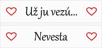 Tabuľky - ŠPZ pre nevestu - Nevesta, Už ju vezú... - 9268764_