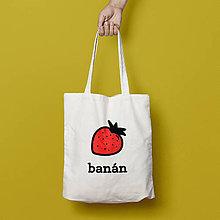 Nákupné tašky - Banán (bavlnená taška) - 9266842_