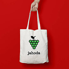 Nákupné tašky - Jahoda (bavlnené taška) - 9266966_