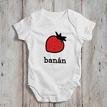 Detské oblečenie - Banán (detské body) - 9267024_