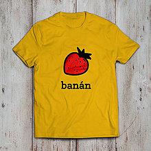 Tričká - Banán (dámske alebo pánske tričko) - 9267535_