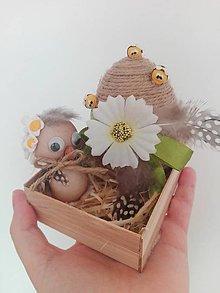 Dekorácie - Jarná dekorácia vajíčko a vtáčik - 9265867_
