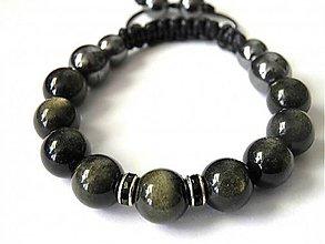 Náramky - Náramok Zlatý obsidián - 9266585_
