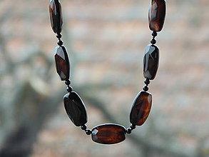 Náhrdelníky - Náhrdelníkz minerálu onyx veľkej veľkosti - 9268165_