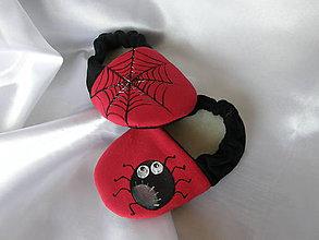 Topánočky - Detské papučky s pavúčikom - 9264066_