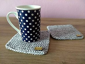 Úžitkový textil - Pletené podšálky - 9266448_