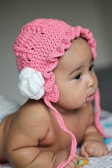 Detské čiapky - Čepček- rúžová - 9267296_