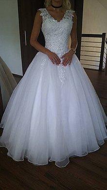 Šaty - Princezničkovské svadobné šaty na ramienka - 9263309_