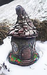 Svietidlá a sviečky - Čarovný domček- Lampášik - 9266692_