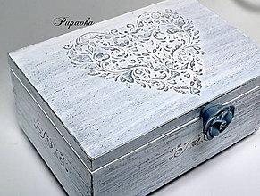 Krabičky - Šperkovnica srdce - 9264004_