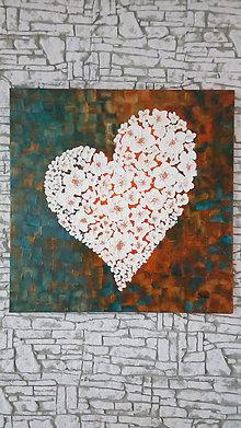 Obrazy - Kvetinkové srdce - 9267851_