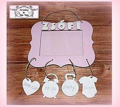 Detské doplnky - Rámik na fotku s údajmi o narodení dieťatka :) - 9266075_