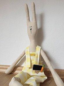 Dekorácie - zajko v žltých nohaviciach - 9268700_