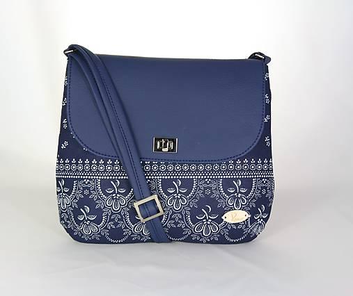 modrotlačová kabelka Ria modrá 3