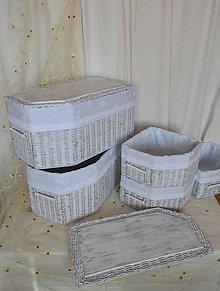 Košíky - Patinované boxy BAJA / set - 9265575_