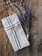Úžitkový textil - Ľanový obrúsok Obsession Natur - 9267638_