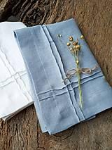 Úžitkový textil - Ľanový obrúsok Obsession Greyish Blue - 9267676_