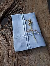 Úžitkový textil - Ľanový obrúsok Obsession Greyish Blue - 9267679_