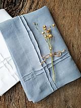 Úžitkový textil - Ľanový obrúsok Obsession Greyish Blue - 9267684_