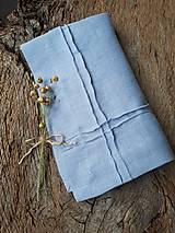 Úžitkový textil - Ľanový obrúsok Obsession Greyish Blue - 9267687_