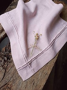Úžitkový textil - Ľanový obrúsok Obsession Greyish Pink - 9267720_