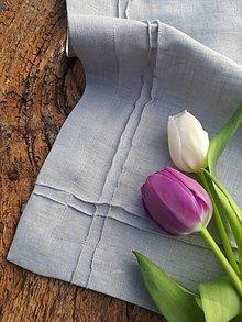 Úžitkový textil - Ľanový obrúsok Obsession Grey - 9267788_