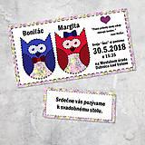 Papiernictvo - Svadobné oznámenie sovičky - 9265999_