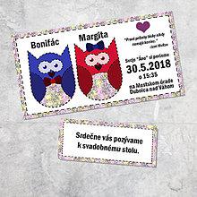 Papiernictvo - Svadobné oznámenie sovičky 7 - 9265999_