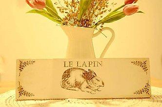 Tabuľky - Tabuľka Le Lapin - 9272771_