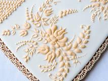 Dekorácie - Medovníkové srdce Sedemdesiatnika - 9272266_