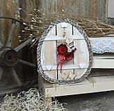 Dekorácie - Závesná dekorácia: Veľkonočné vajíčko - 9272161_