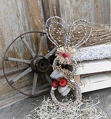 Dekorácie - Závesná veľkonočná dekorácia - zajačik ušiačik - 9272205_