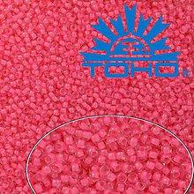 Korálky - Toho Rokajl 11/0 -Inside-Color Crystal/Carnation Lined č.965 25g - 9269776_