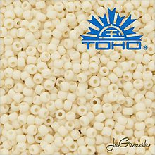Korálky - Toho Rokajl 11/0 - Opaque-Frosted Lt Beige č.51F 25g - 9269799_