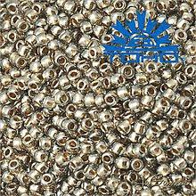 Korálky - Toho Rokajl 11/0 - Gold-Lined Black Diamond č.993 25g - 9269913_