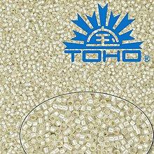 Korálky - Toho Rokajl 11/0- Silver-Lined Frosted Crystal č.21F 25g - 9269942_